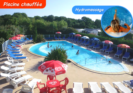 Camping 3 etoiles les mouettes camping sarzeau golfe du for Piscine chauffee