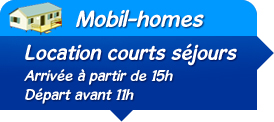 Location mobil-home week-end